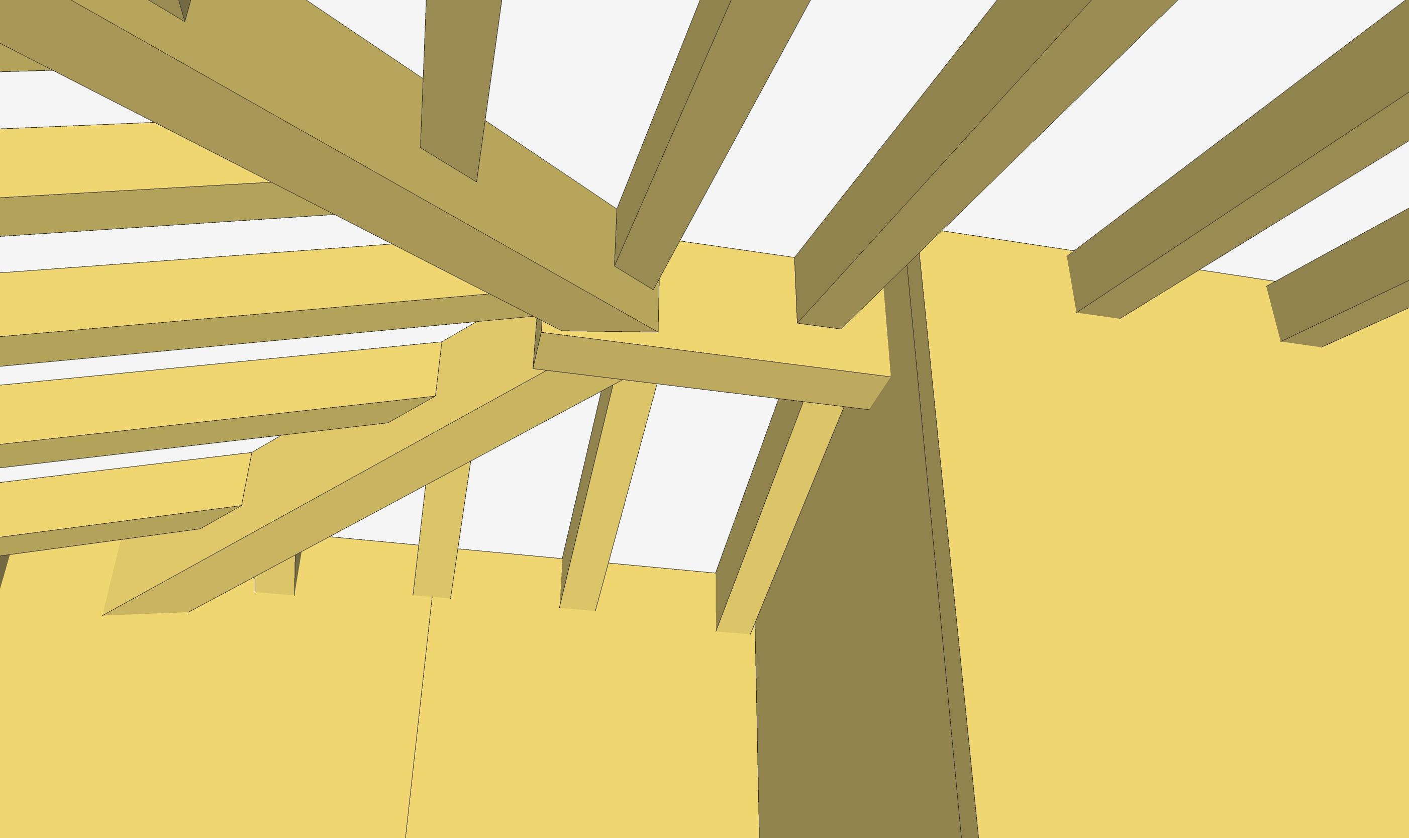 5 Vista costruttivo diagonali su colmo
