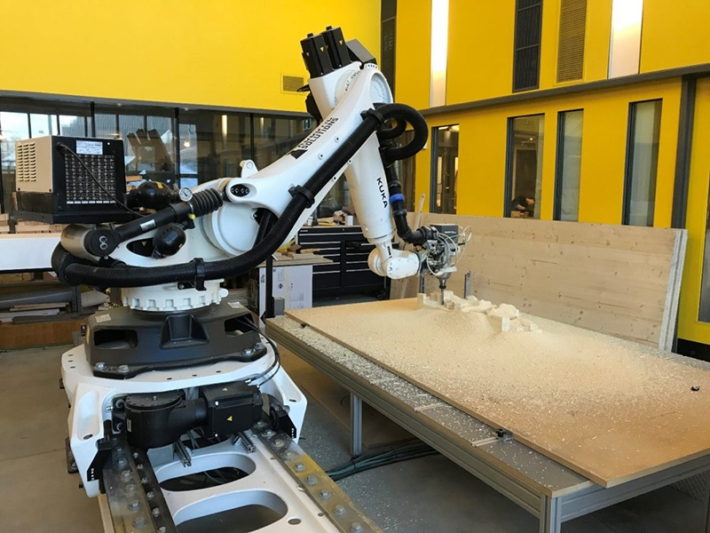 Robotic Fabrication of Mass Timber Sound Diffusers